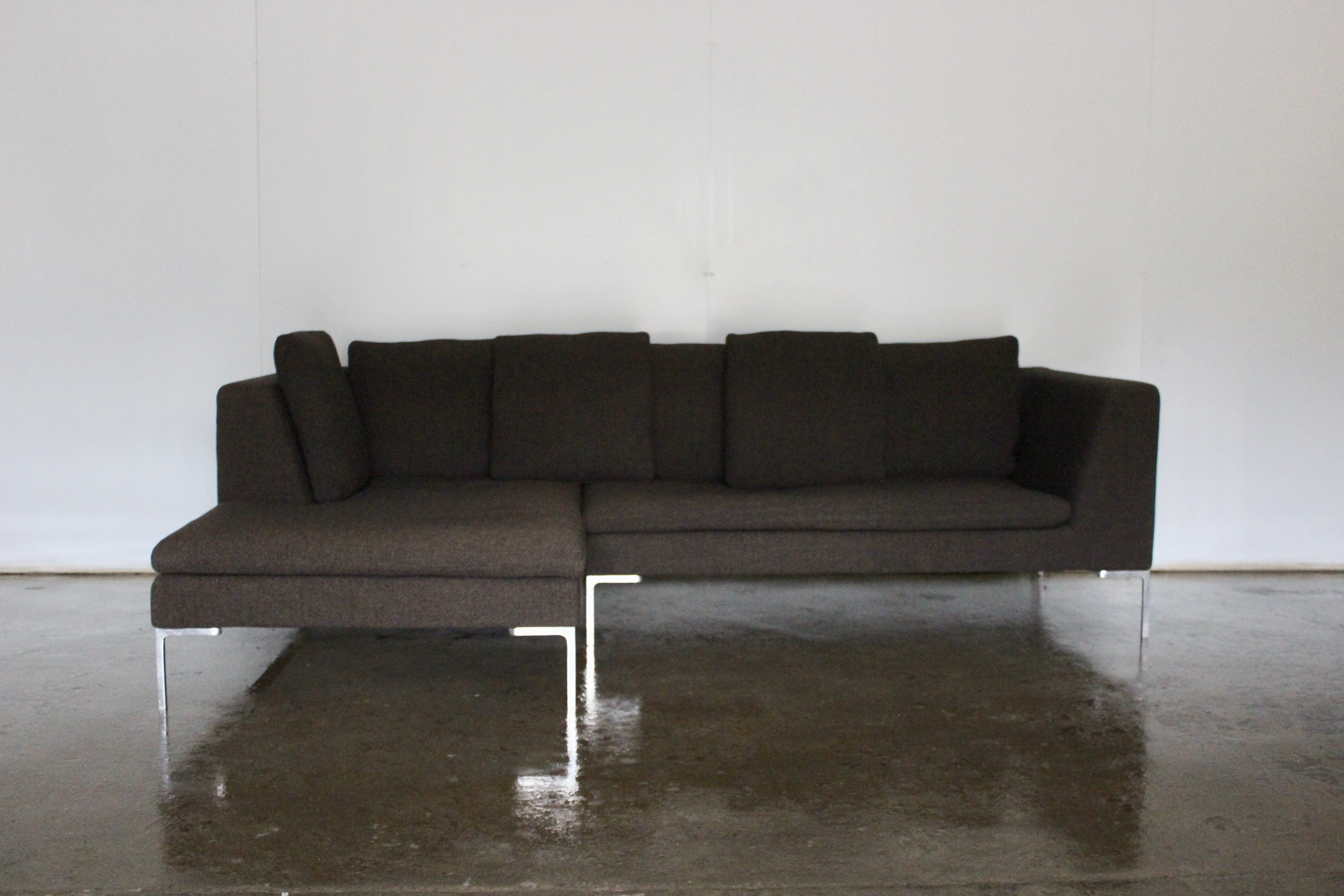 Outstanding Gorgeous Compact Bb Italia Charles L Shape Sectional Sofa Ibusinesslaw Wood Chair Design Ideas Ibusinesslaworg