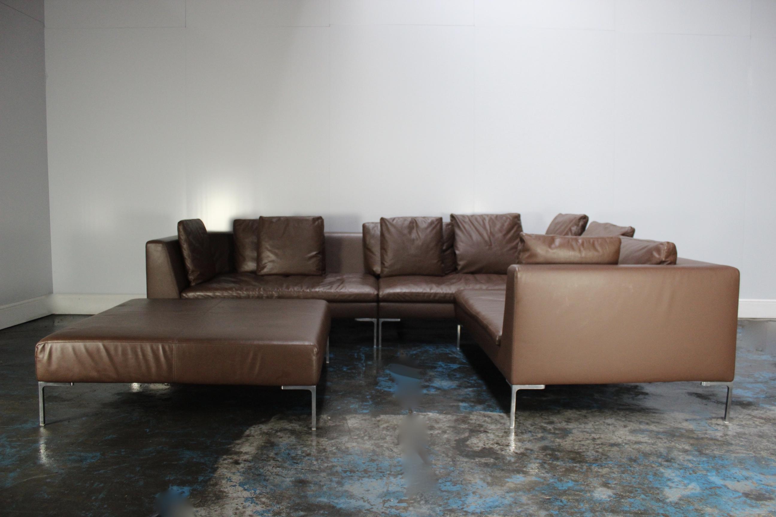 Stunning Rare B Italia Charles Large L Shape Sofa