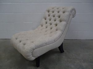 "Mint ""Brewster"" Chaise Chair in Romo Fabric, Handmade by George Smith Craftsmen"