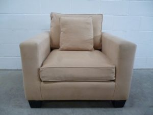 "Rare Ralph Lauren ""Modern Penthouse"" Club Chair in Beige Cashmere Cotton"