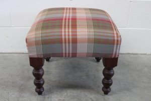 "Mint George Smith ""Baby Signature Stool"" Footstool in Iconic Mulberry Fabric"