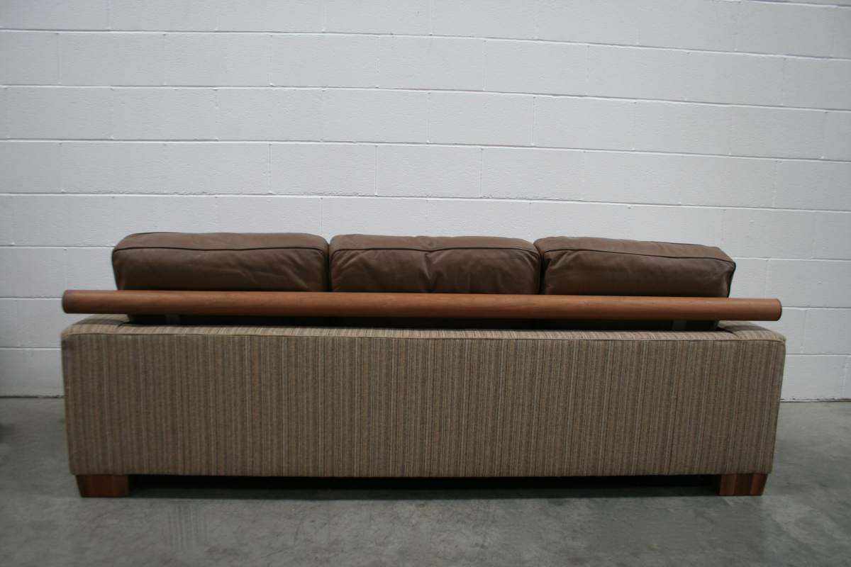Handsome Flexform Quot Status Quot 3 Seat Sofa In Striped Wool