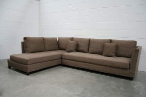"Mint Peerless Flexform ""Victor"" Sectional L-Shape Sofa in Neutral Woven Fabric"