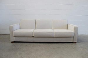"Peerless Flexform ""Bob"" Large 3-Seat ""Movement"" Sofa in Stone Woven-Linen Fabric"