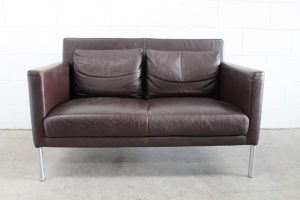 "Rare Walter Knoll ""Jason 391"" 2-Seat Sofa & 2 Armchairs Suite in Brown Leather"