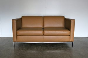 "Immaculate Sublime Walter Knoll ""Foster 500.20"" 2-Seat Sofa in Pale-Brown Leather"