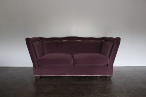 "Mint ""High-Arm"" Large Sofa in Osborne & Little Fabric, Made by George Smith Craftsmen"
