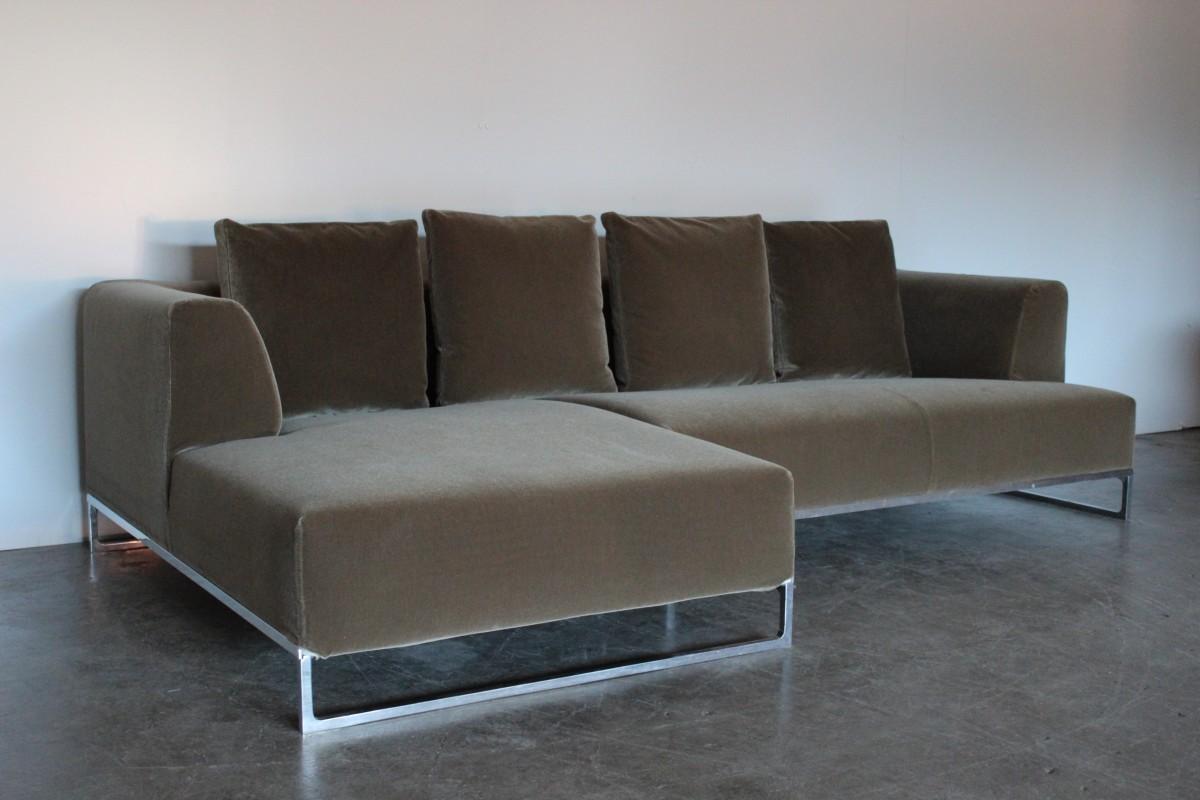 Phenomenal Mint Bb Italia Solo L Shape Sectional Sofa In Sensational Ibusinesslaw Wood Chair Design Ideas Ibusinesslaworg