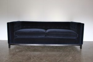 "Pair of ""Brompton"" Sofas in Ralph Lauren Velvet, Made by George Smith Craftsmen"