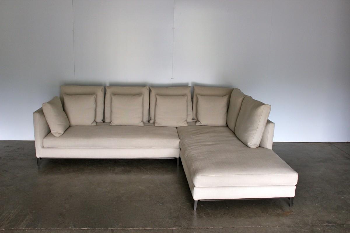 """Malerisch Sofa Alcantara Foto Von Immaculate Minotti """"andersen Slim 103 Quilt"""" 4-seat"""