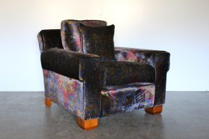 "Rare Sublime Ralph Lauren ""Club"" Armchair in Paisley Velvet - 2 Available"