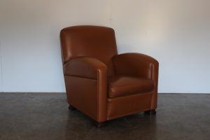 "Sublime Poltrona Frau ""Tabarin"" Armchair in Pristine ""Pelle Frau"" Tan Leather - 4 Available"