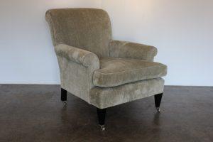 "Divine Beaumont & Fletcher ""Hamilton"" 2 Armchair & Ottoman Suite in ""Larissa"" Albatros Fabric"