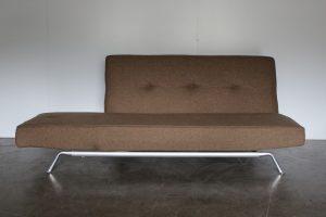 "Rare Superb Ligne Roset ""Smala"" Large Sofa-Bed in Natural Green & Brown Wool"