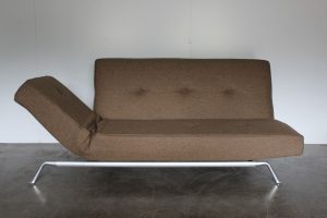 "Rare Superb Ligne Roset ""Smala"" Large Sofa-Bed in Natural Green & Brown Wool"