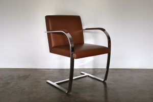 "Mint Knoll Studio ""Brno Flat Bar"" Lounge Chair Armchair in Brown Leather - 2 Available"
