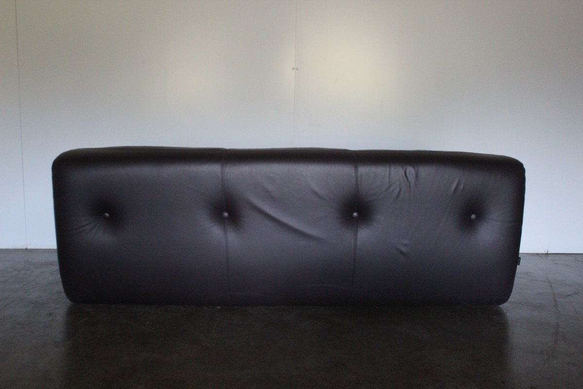 Rare Superb Ligne Roset Kali 3 Seat Sofa In Purple Aubergine Leather Lord Browns