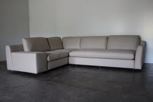 "Mint Huge Cassina ""235-238 Mister"" L-Shape Sectional Sofa in Natural Linen Fabric"