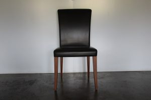 """Superb Suite of 10 Poltrona Frau """"Vittoria"""" Dining Chairs in Dark-Brown """"Pelle Frau"""" Leather"""
