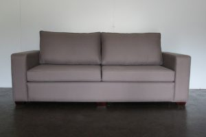 "Impeccable Bespoke 3-Seat ""Square-Arm"" Sofa in Andrew Martin ""Berkswell"" Fabric in Grey - 4 Available"