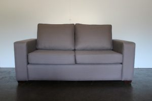"Impeccable Bespoke 2.5-Seat ""Square-Arm"" Sofa in Andrew Martin ""Berkswell"" Fabric in Grey - 4 Available"