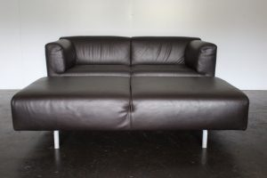 "Rare Superb Sofa & Bench Suite of Cassina ""250 Met"" Seating in Dark Brown Leather"