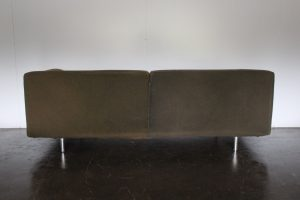 "Rare Sublime Cassina 250 ""Met"" 3-Seat Sofa in Moss Green Cashmere Wool"