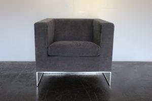 "Superb, Pristine Minotti ""Klee"" Armchair in Grey Alcantara - 2 Available"