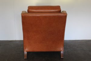 "Elegant Pristine Duresta ""Trafalgar"" Armchair in Tan Brown Leather - 2 Available"