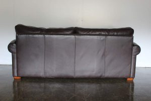 "Divine Duresta ""Garrick"" 3-Seat Sofa in Dark Brown Leather"