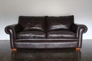 "Divine Duresta ""Garrick"" 2.5-Seat Sofa in Dark Brown Leather"
