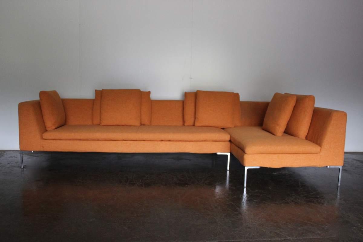 Pleasant Superb Bb Italia Charles L Shape Sectional Sofa In Orange Ibusinesslaw Wood Chair Design Ideas Ibusinesslaworg