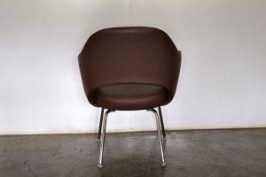 "Mint Knoll Studio ""Saarinen Executive"" Armchair in ""Volo"" Brown Leather"