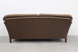 "Elegant Pristine Duresta ""Ruskin"" 3-Seat Large Sofa in Moon ""Aberdeen"" Woollen Fabric"