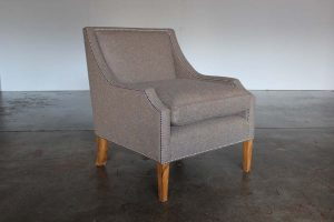 "Mint ""Georgian"" Armchair in Stunning ""Moon"" Woollen Fabric, Handmade by George Smith Craftsmen (Copy)"