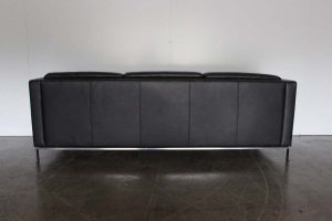 "Immaculate Sublime Walter Knoll ""Foster 500.30"" 3-Seat Sofa in Black Leather"