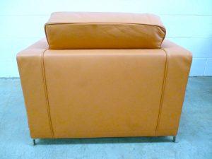 """Rare Impeccable Flexform """"Bob"""" Movement Armchair in Pale Brown Leather"""