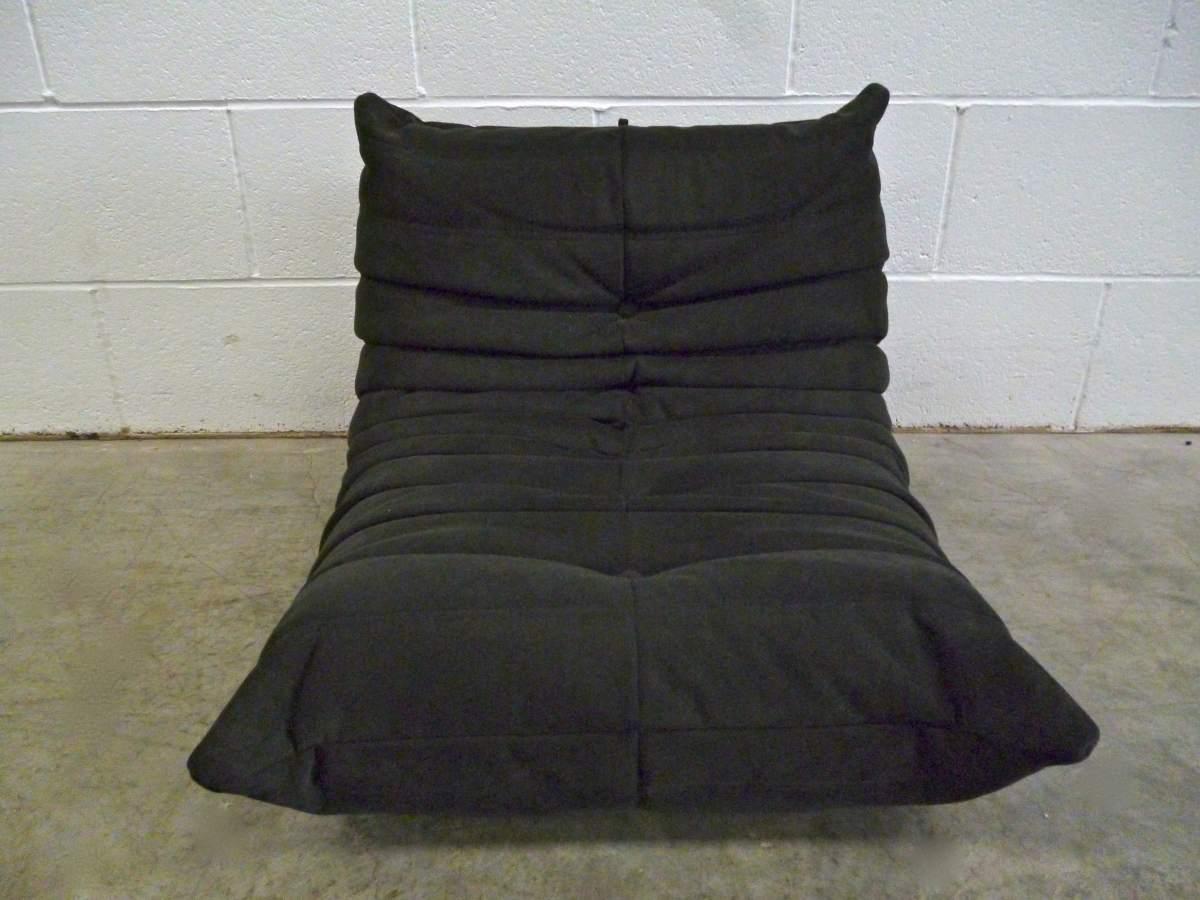 Gorgeous Pristine Ligne Roset Mini Togo Fireside Chair In Black