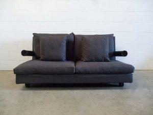 """Rare Pristine B&B Italia """"Baisity"""" Large 2-Seat Sofa in Cream Woven Linen Fabric (Copy)"""