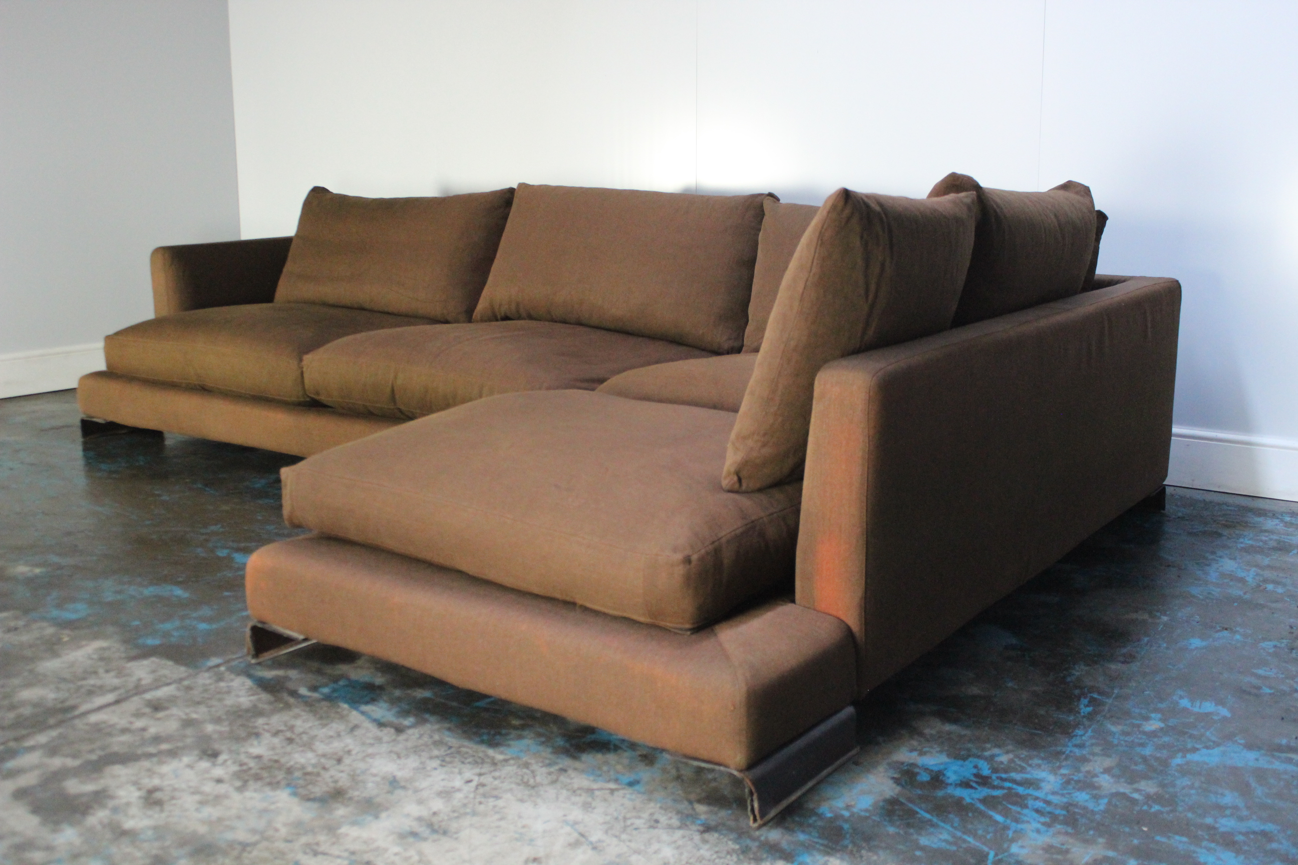 Surprising Peerless Huge Flexform Long Island Sectional L Shape Sofa Onthecornerstone Fun Painted Chair Ideas Images Onthecornerstoneorg