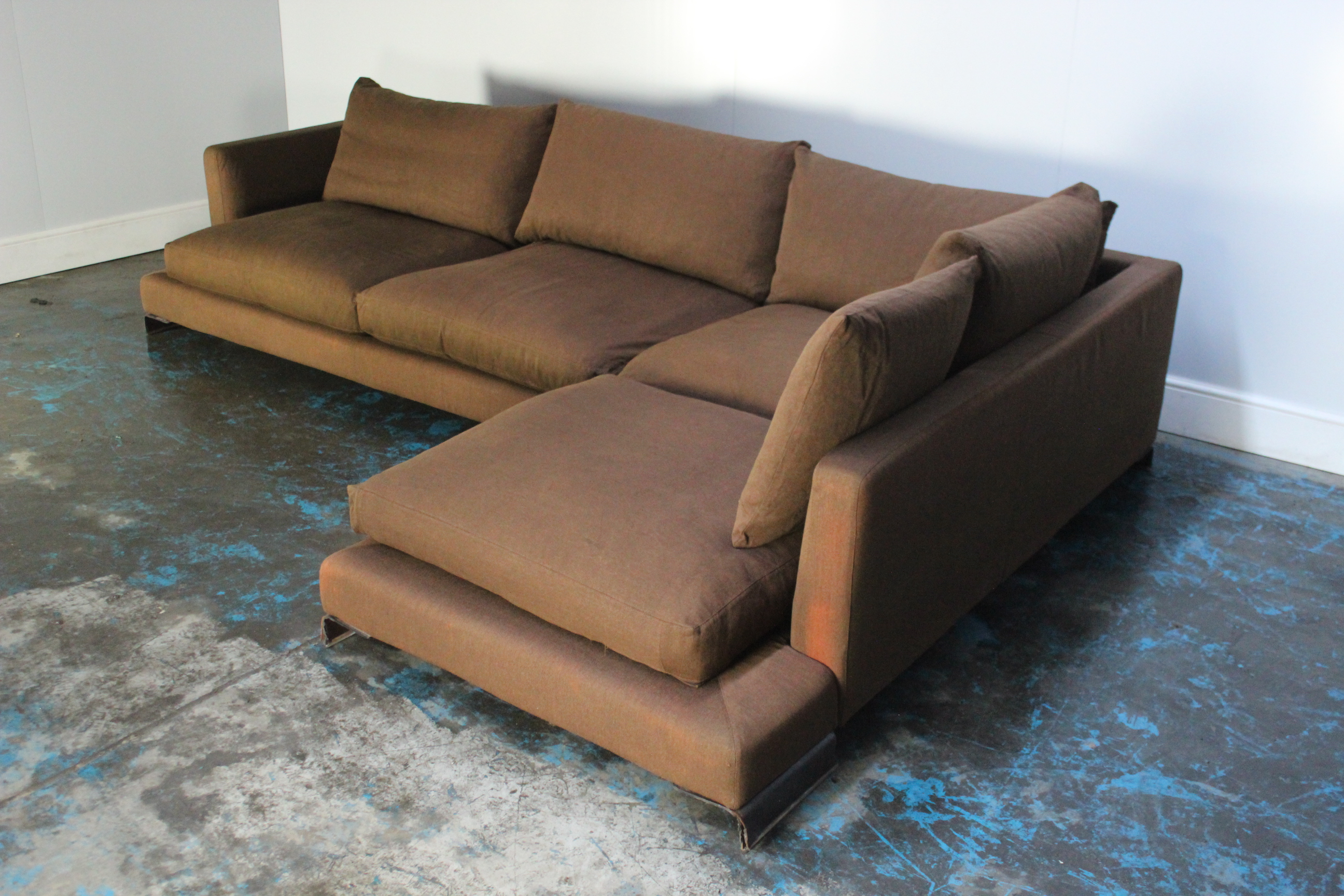 Fabulous Peerless Huge Flexform Long Island Sectional L Shape Sofa Onthecornerstone Fun Painted Chair Ideas Images Onthecornerstoneorg